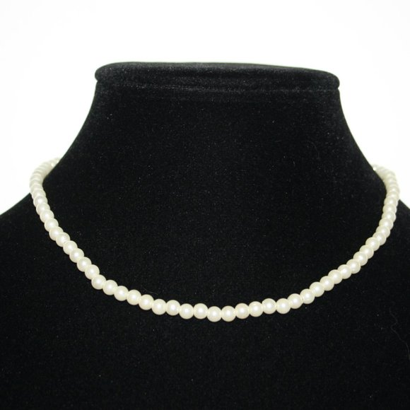 """Dainty white pearl necklace 15"""""""